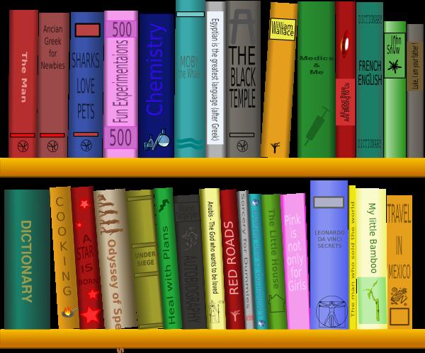 Books On Shelf Clip Art At Clkercom Vector Clip Art Online