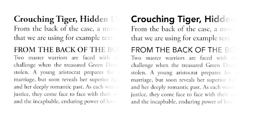 Choosing Typefaces for Layout