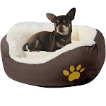 "Evelots Soft Pet Bed, for Cats & Dogs, 17""D x 5""H, Brown"