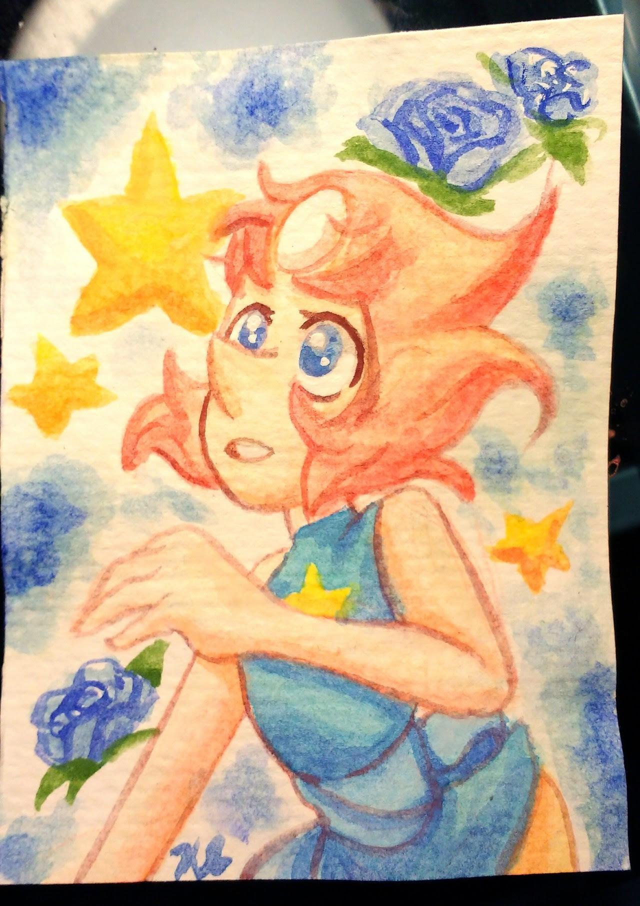 Small watercolor porl.