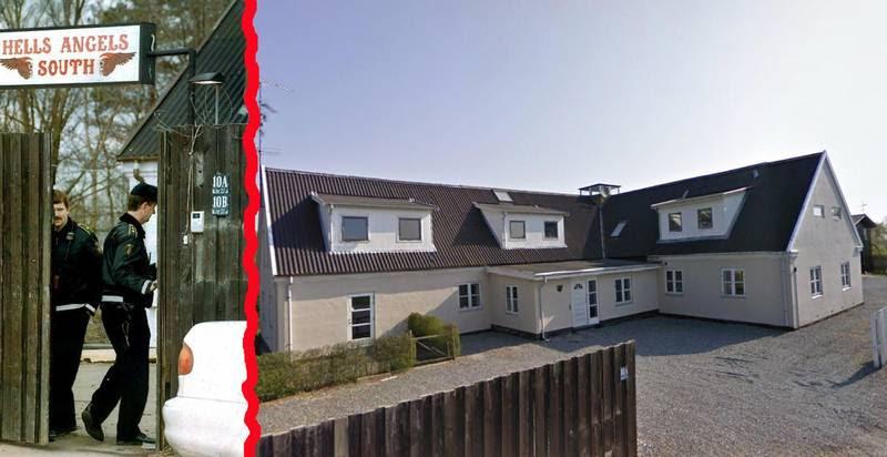 Før og nu: Indgangen til det gamle mejeri i Snoldelev ses til venstre i HA-tiden. Nu er der indrettet boliger på stedet, som det fremgår af billedet til højre. (Foto: Lars Krabbe/Google Street View)