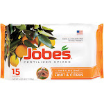 Jobes Granular Fruit and Citrus Fertilizer Spikes - 15 pack