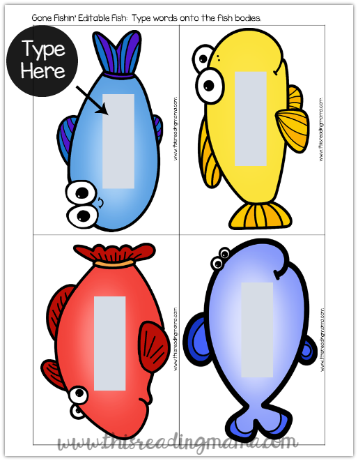 Sight Words Fishing Game {with Editable Fish!} - This Reading Mama