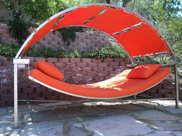 outdoor swinging day bed - modern - patio furniture and outdoor ...