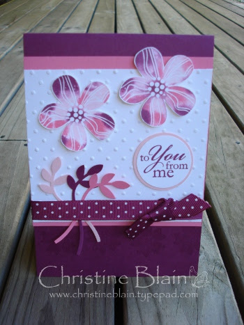 Razzleberry, pink Eastern Blooms card