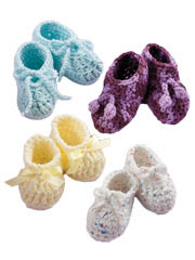 Quick Stitch Baby Booties