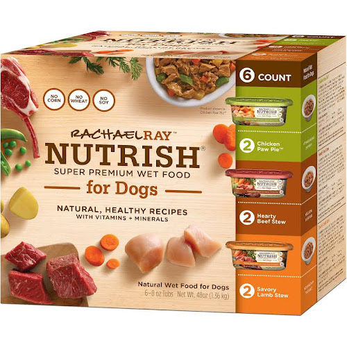 Rachael Ray Nutrish Food for Dogs, Super Premium, Wet, Variety Pack - 6 pack, 8 oz tubs