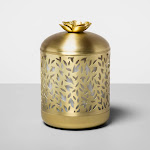 200ml Metal Flower Cutout Color-Changing Oil Diffuser Gold - Opalhouse