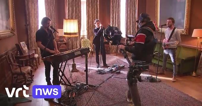 """BEKIJK - Bij Balthazar op set livesessie bij nieuwe plaat """"Sand"""": """"Corona was tijdens opnames onze zesde muzikant"""""""