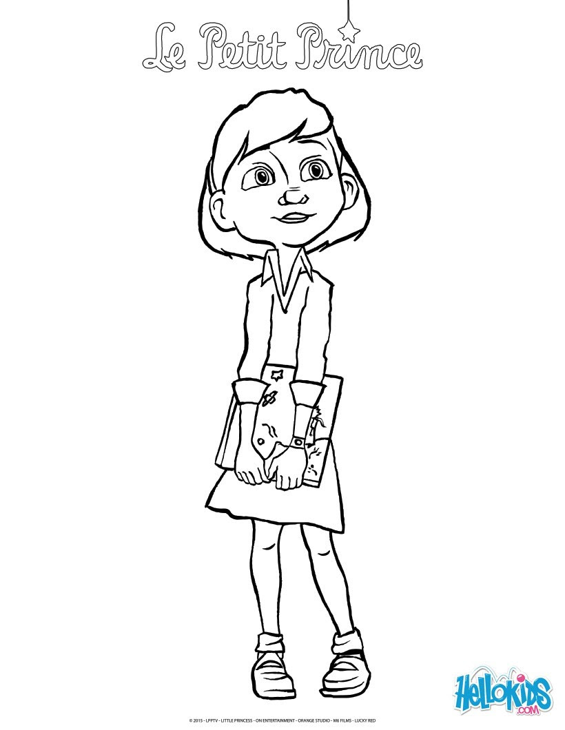 The Little Girl And The Little Prince Book Coloring Pages