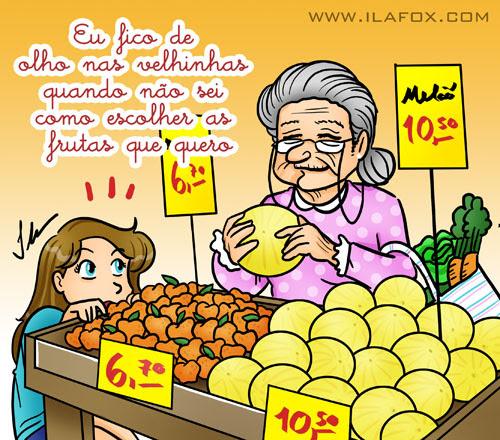 como escolher melão, ilustração by ila fox