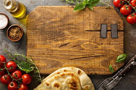 Food background with cutting board ~ Photos ~ Creative Market