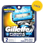 Gillette Fusion5 Proshield with 5 Anti-Friction Blades, Men's Razor Blades, 4 Count