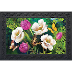 Butterflies And Poppies Spring Doormat