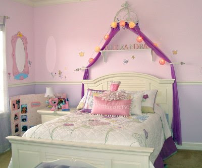 Girl's Princess Themed Bedroom – Kids' Room Decorating Ideas