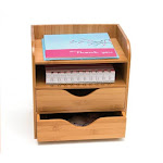 Lipper International 1804 Bamboo 4 Tier Desk Organizer