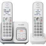 Panasonic KX-TGD532 Expandable Cordless Phone with Handset, White - 2 pack