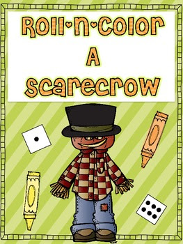 Roll N Color Scarecrow {The Little Old Lady Who Wasn't Afr