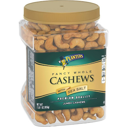 Planters Cashews, Fancy Whole, with Sea Salt, Jumbo - 33 oz