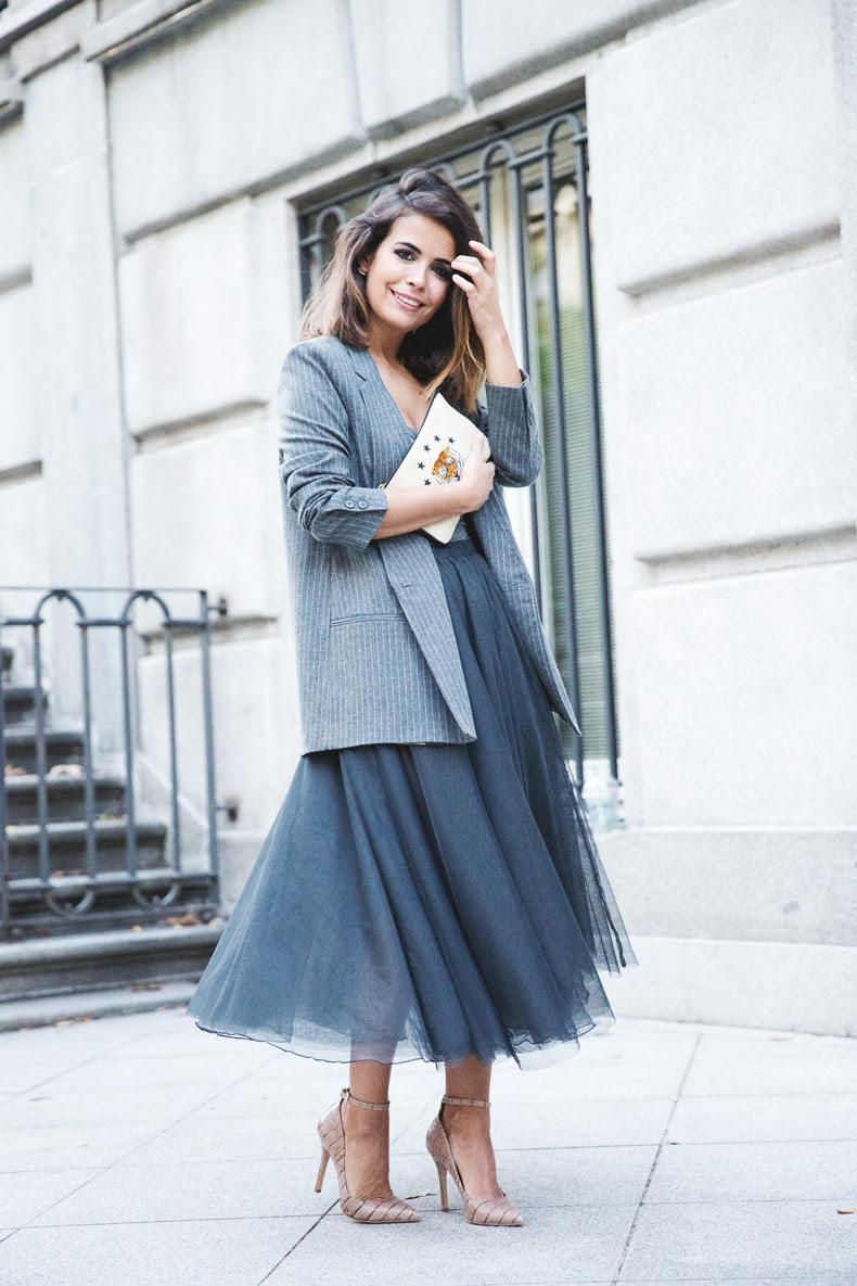 Midi Basic Striped Skirts