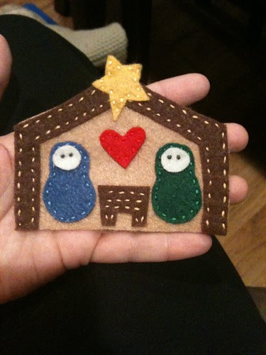 Nativity felt ornament