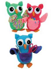 Owl Pocket Pals Crochet Pattern - Electronic Download