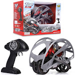 Tumbling R/C Motorcycle Remote Control - Steering Remote, Extreme 360 Wheel Drive - 2.4Ghz RC Stunt Vehicle With Rechargeable Battery - Electric Toy
