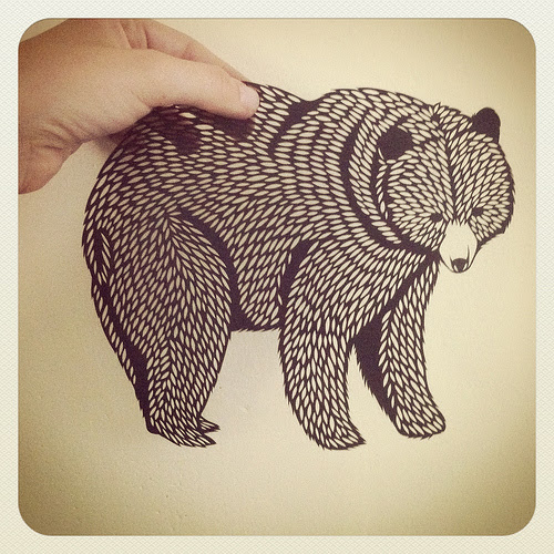 Grizzly Paper Cutting
