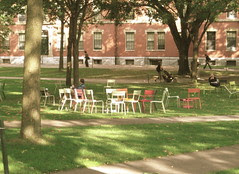 I thought these chairs in Harvard Yard looked so cheery!