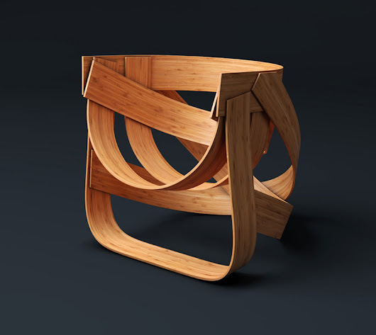 dutch design only presents sustainably woven bamboo chair - designboom | architecture & design magazine