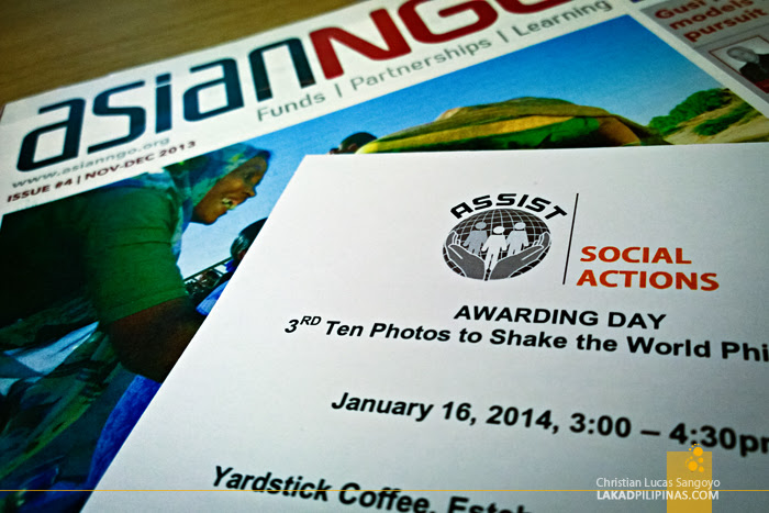 At the Awarding of the Ten Photos to Shake The World Photo Contest