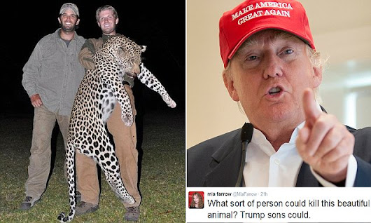 Trump defends his big-game hunting sons as they are shamed after Cecil