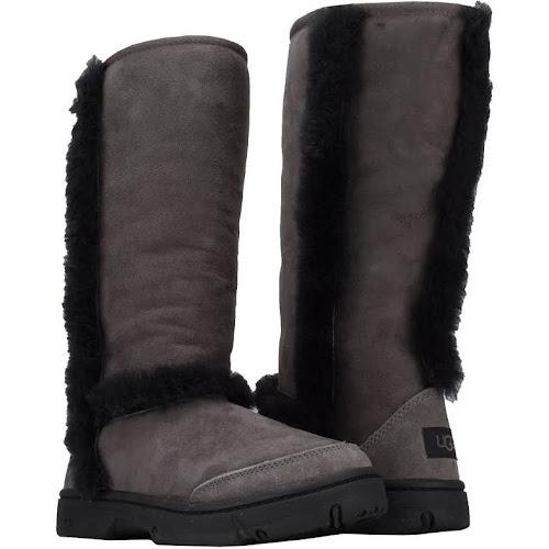 UGG Australia Sunburst Tall Women's Boots Size 10, Grey/Black
