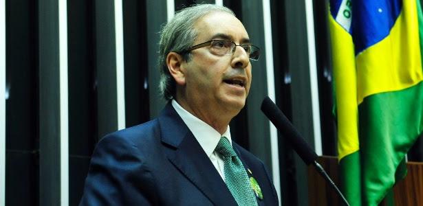 Eduardo Cunha (PMDB-RJ) discursa durante sessão de votação para a eleição da nova Mesa Diretora da Câmara