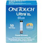 One Touch Ultra Test Strips, Blue - 50 test strips