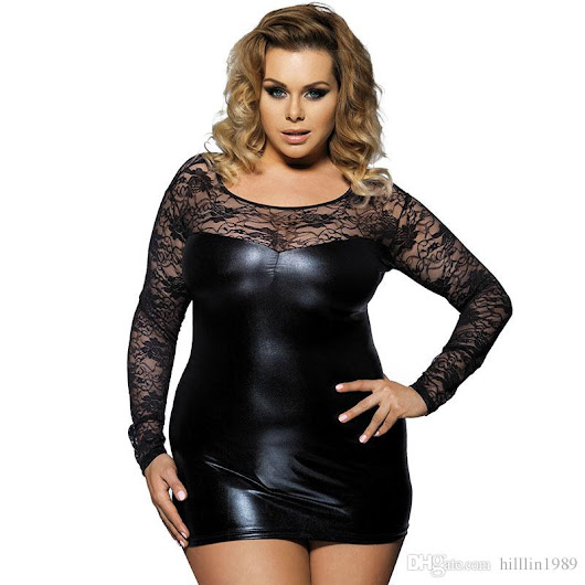 2018 Plus Size 2xl Women Long Sleeve Mini Party Dresses Sexy Black Faux Leather Clubwear Fetish Club Dress From Hilllin1989, $13.36 | Dhgate.Com