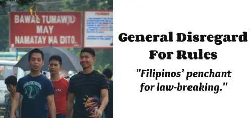 negative traits and attitudes of filipinos