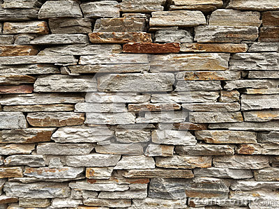 Stock Photo: Slate Brick Wall