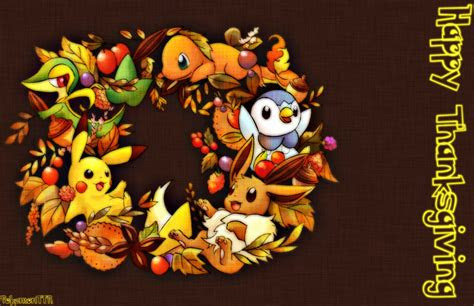 pokemon thanksgiving wallpaper festival collections