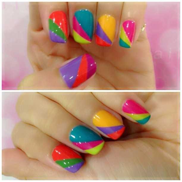 34 Amazing DIY Nail Art Ideas Using Scotch Tape (19)