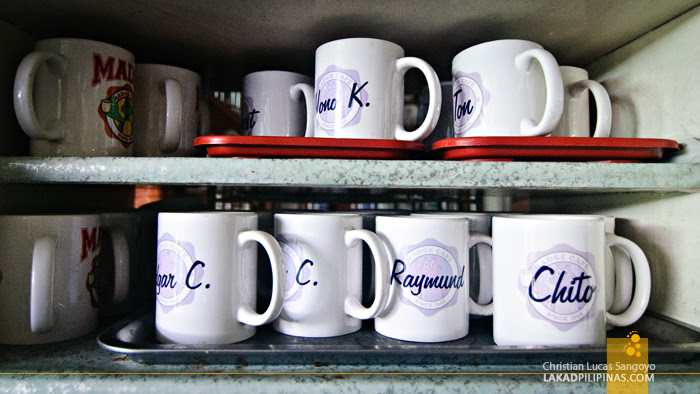 Named Mugs at Madge Café in Iloilo City