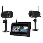 7 in. 1080P 4-Channel Touchscreen Monitor with 2 Camera Black KE432452