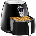 Chefman RJ38-P1 Hot air Fryer - 2.6 qt - Black/Stainless Steel