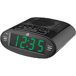 GPX - AM/FM Dual-Alarm Clock Radio - Black