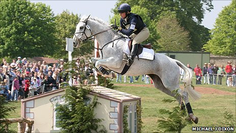 Phoebe Buckley at an equestrian event