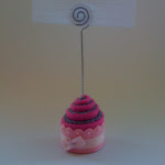 Cupcake in feltro miniatura