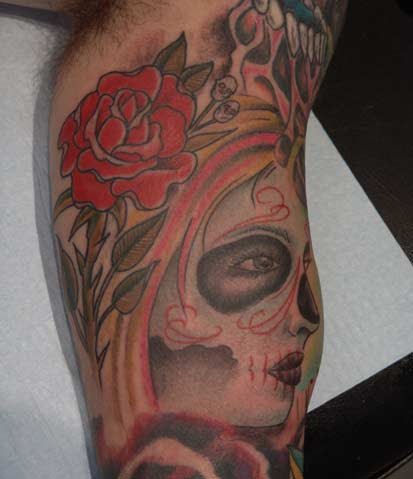 day of the dead tattoos. Color tattoos Tattoos day of