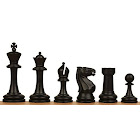 Master Plastic Chess Set Black Tan Pieces 3 75 King