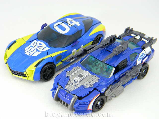 Transformers Topspin Deluxe - Dark of the Moon - modo alterno vs Sideswipe