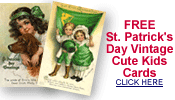 free St. Patrick's Day cute kids cards
